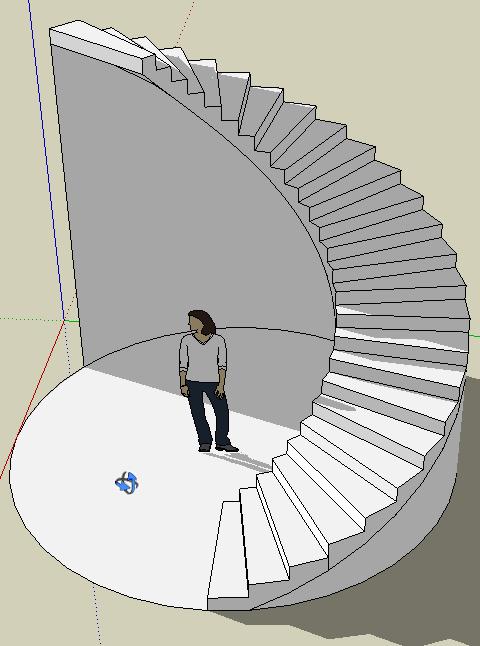 escalier helicoidal sketchup